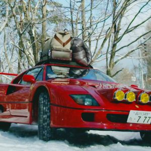 OMG!!! Ferrari F40 Drifting in Snow Up To Base Camp