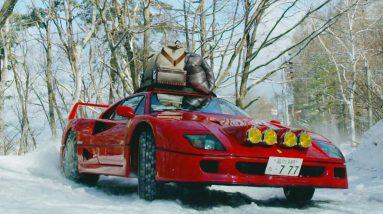 OMG!!! Ferrari F40 Drifting in Snow Up To Base Camp