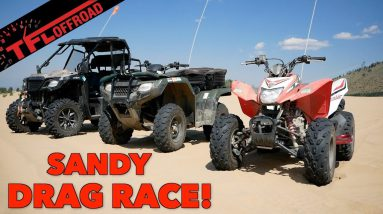 Which Is Quicker: 2WD ATV,  4x4 ATV, or a Side by Side? Sand Dunes Drag Race!
