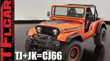 What Happens When You Mashup a Jeep Wrangler JK + TJ + CJ? Answer: Jeep CJ66 SEMA Concept